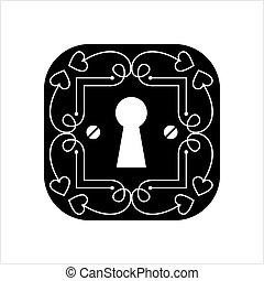 Keyhole Icon Design Vector Art Illustration