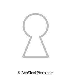 keyhole icon- vector illustration