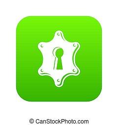 Keyhole icon green