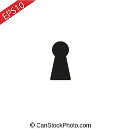 Keyhole Icon in trendy flat style isolated on grey background. Vector illustration, EPS10.