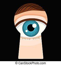 Keyhole Male Eye