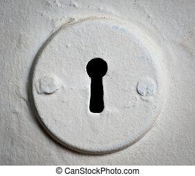 Keyhole. - Old keyhole.