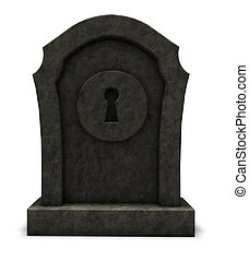 keyhole on gravestone - keyhole on a gravestone - 3d ...