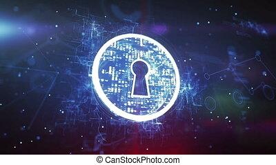"""keyhole., sicurezza internet, concept"""