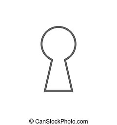 Keyhole silhouette icon. Vector illustration, flat design.