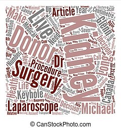 Keyhole Surgery An Innovative Boon For Live Kidney Donors text background word cloud concept