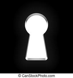 Keyhole vector illustration