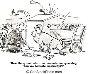 Keynote Speaker - Cartoon of business speaker, presentation...
