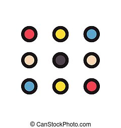 keypad flat color icon