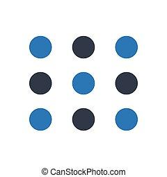 keypad  glyph color icon