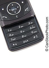 Keypad of black mobile phone