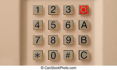 Keypad on home alarm system