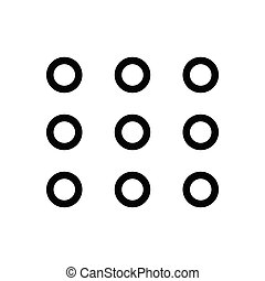 keypad  thin line icon