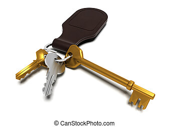 Keyring - 3D render of keys
