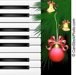 keys and Christmas ball
