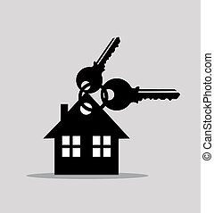 keys and house icons