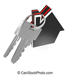 Keys And House Showing Home Security