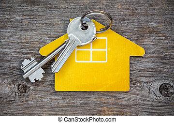 Keys and house symbol