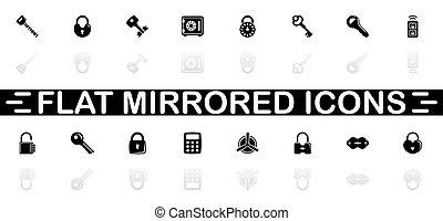 Keys and Locks - Flat Vector Icons - Keys and Locks icons -...