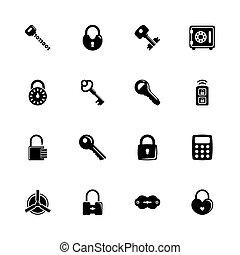Keys and Locks - Flat Vector Icons