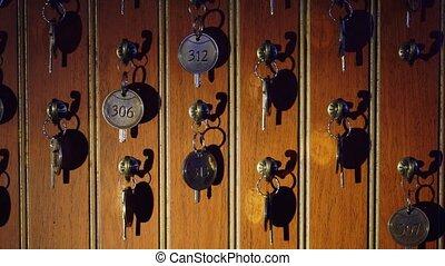 Keys at the reception
