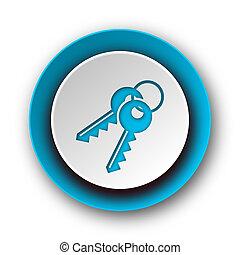 keys blue modern web icon on white background