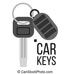 Keys Car Vector. Icon Of Auto Key. Keychain Lock Sign....
