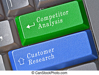 keys for competitor analysis and customer research
