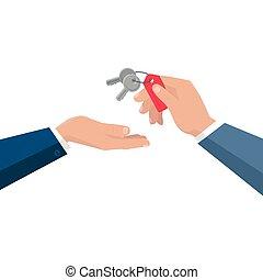 Keys From Dwelling Vector Concept In Flat Design. - Keys ...