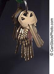 Keys hanging - Set of keys on ring