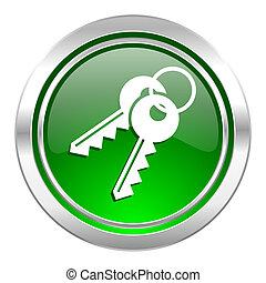keys icon, green button