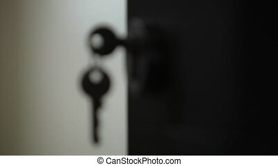 Keys in the keyhole privacy, security, illustration, design concept entrance