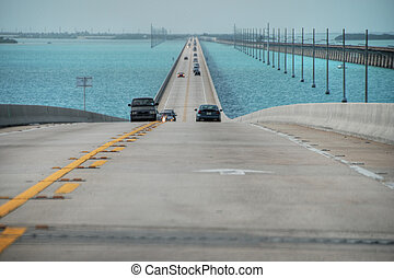 Keys Islands Interstate, Florida, January 2007 - The long...