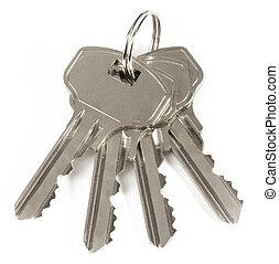 Keys isolated on white background.