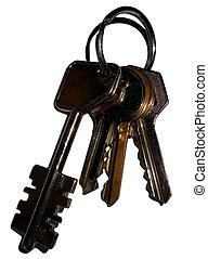 Keys, isolated on white