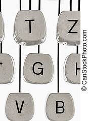 keys of a typewriter