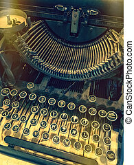 Keys of a vintage typewriter