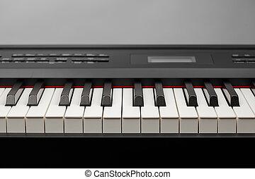 keys of digital piano synthesizer