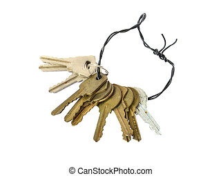 keys on a white background