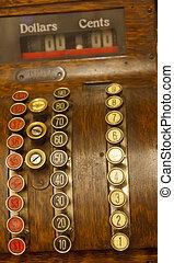 Keys on an Old Cash Register