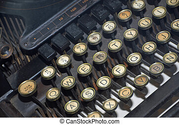 Keys on an old typewriter
