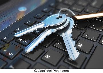 Keys on laptop keyboard