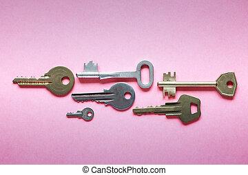 Keys On Pink Paper