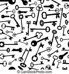 Keys Repeating Background