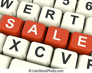 Keys Spelling Sale As Symbol for Discounts And Promotions -...