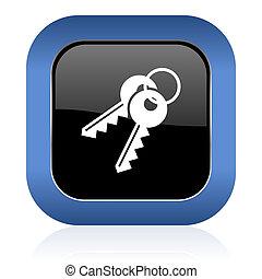 keys square glossy icon