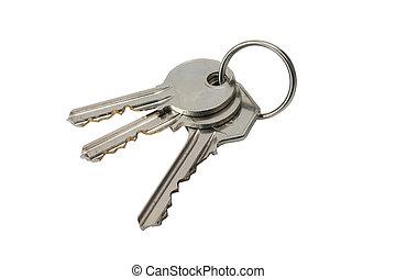 keys - 3 keys on white back-ground