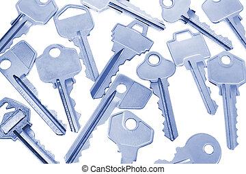 Keys - Close Up of keys in Blue Tone