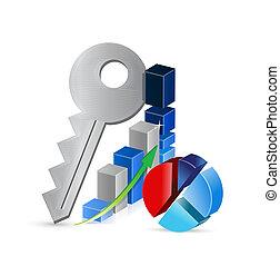 keys to business profits concept illustration