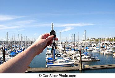 Keys to new boat